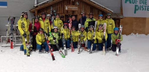 Skitrainer, Übungsleiter, Abfahrt