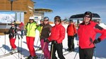 Skilift, Abfahrt, Caving Ski